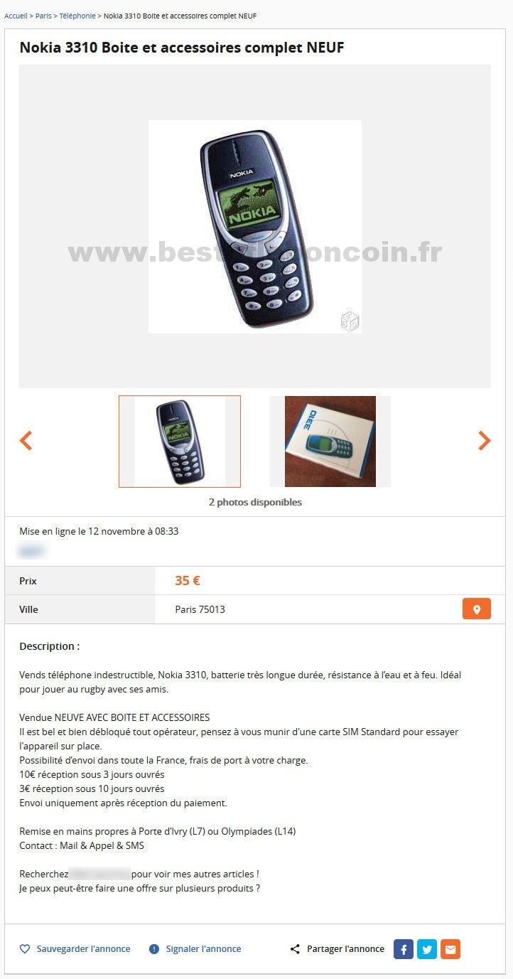 Nokia 3310 Neuf T 233 L 233 Phonie 206 Le De France Best Of Le