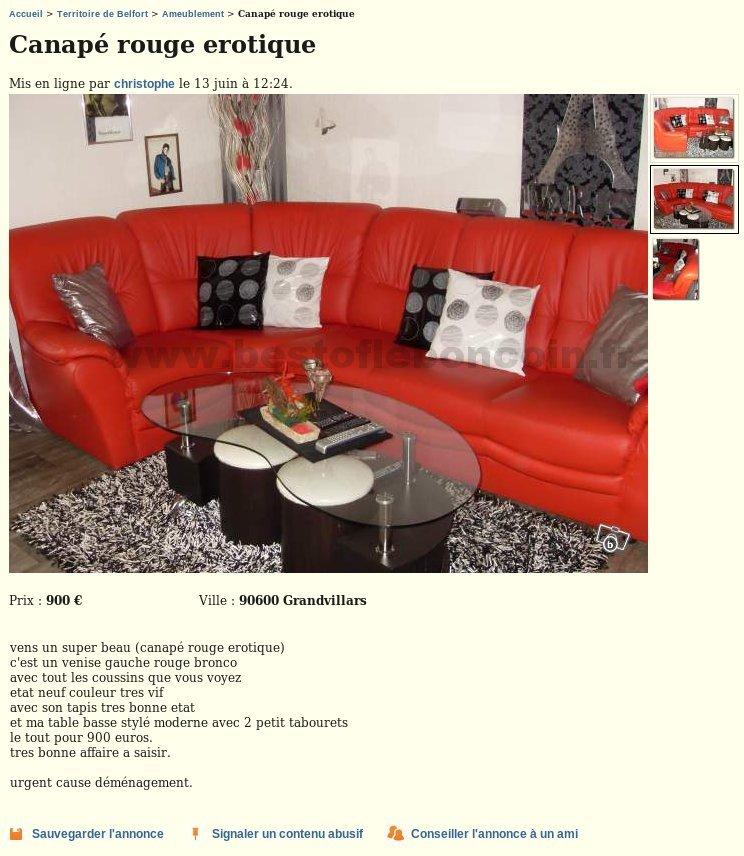 canap rotique ameublement franche comt best of le bon coin. Black Bedroom Furniture Sets. Home Design Ideas
