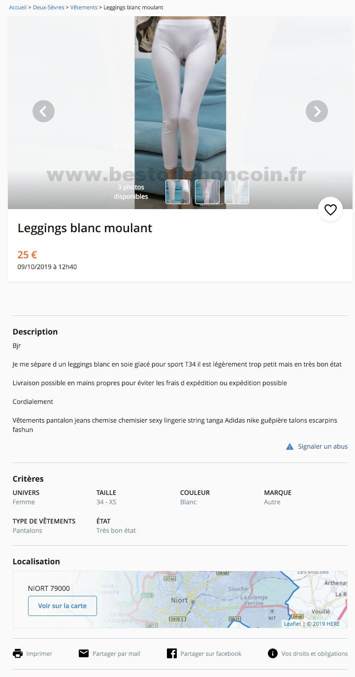 Leggings blanc moulant