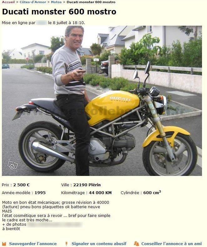 ducati monster 600 motos bretagne best of le bon coin. Black Bedroom Furniture Sets. Home Design Ideas