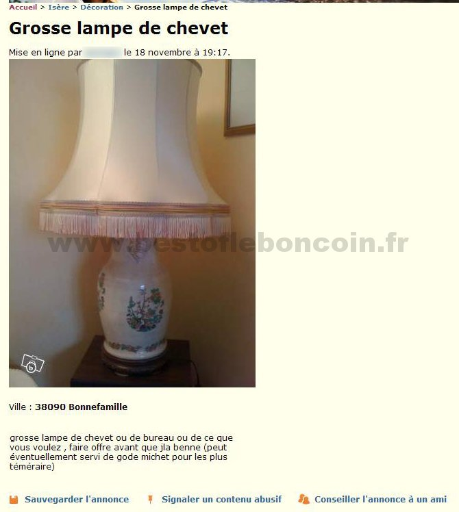 lampe de chevet le bon coin lampe de chevet. Black Bedroom Furniture Sets. Home Design Ideas