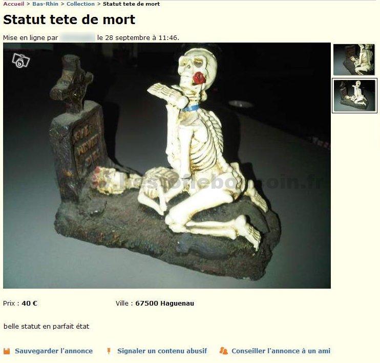Statue Tête de Mort  Collection  Alsace  Best Of Le Bon