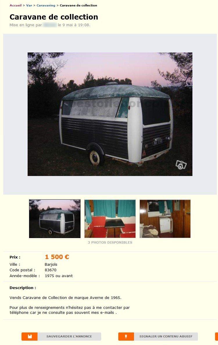 caravane de collection caravaning provence alpes c te d 39 azur best of le bon coin. Black Bedroom Furniture Sets. Home Design Ideas
