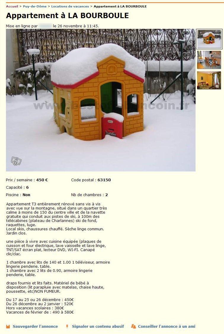 Seche Linge Le Bon Coin appartement à la bourboule / locations & gîtes / auvergne