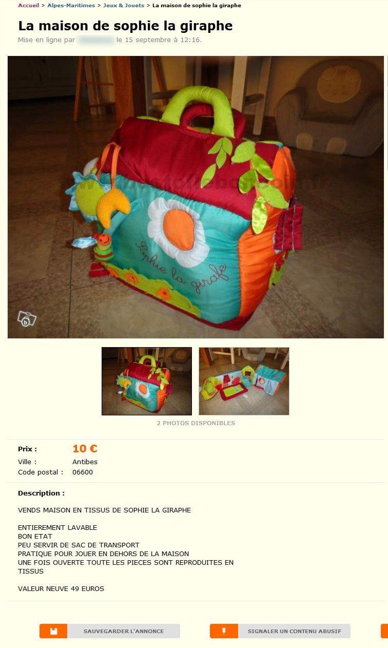 sophie la giraphe jeux jouets provence alpes c te d 39 azur best of le bon coin. Black Bedroom Furniture Sets. Home Design Ideas