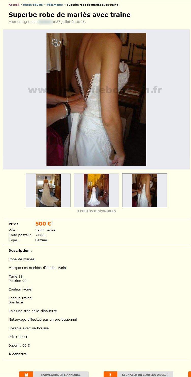 superbe robe de mari s avec traine v tements rh ne alpes best of le bon coin. Black Bedroom Furniture Sets. Home Design Ideas