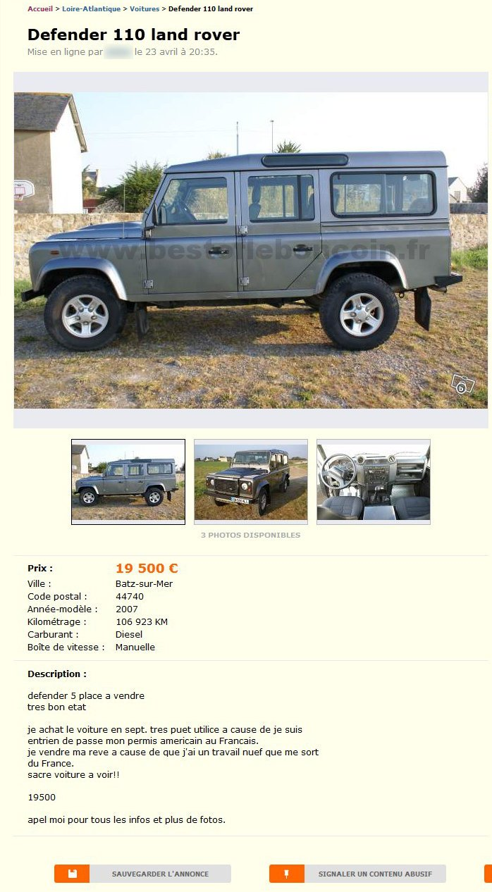 Defender 110 Land Rover