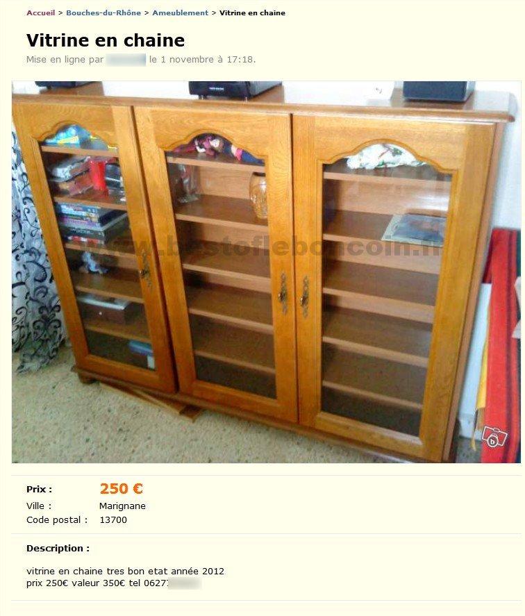 vitrine en chaine ameublement provence alpes c te d 39 azur best of le bon coin. Black Bedroom Furniture Sets. Home Design Ideas