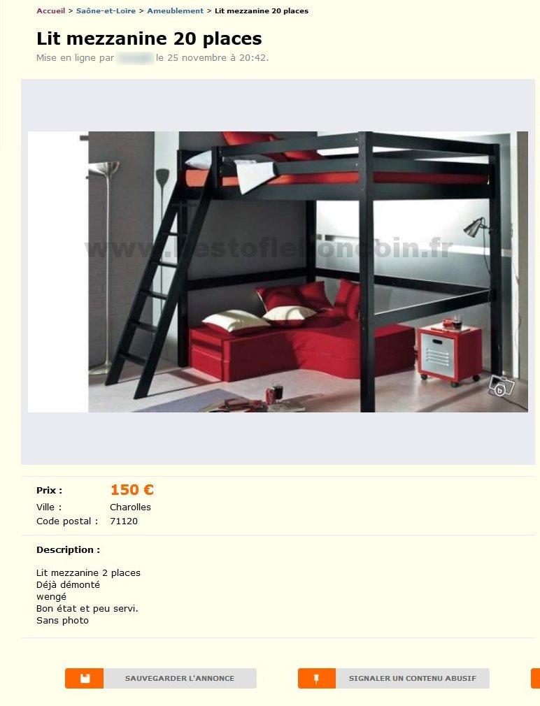 lit mezzanine 20 places ameublement bourgogne best of le bon coin. Black Bedroom Furniture Sets. Home Design Ideas