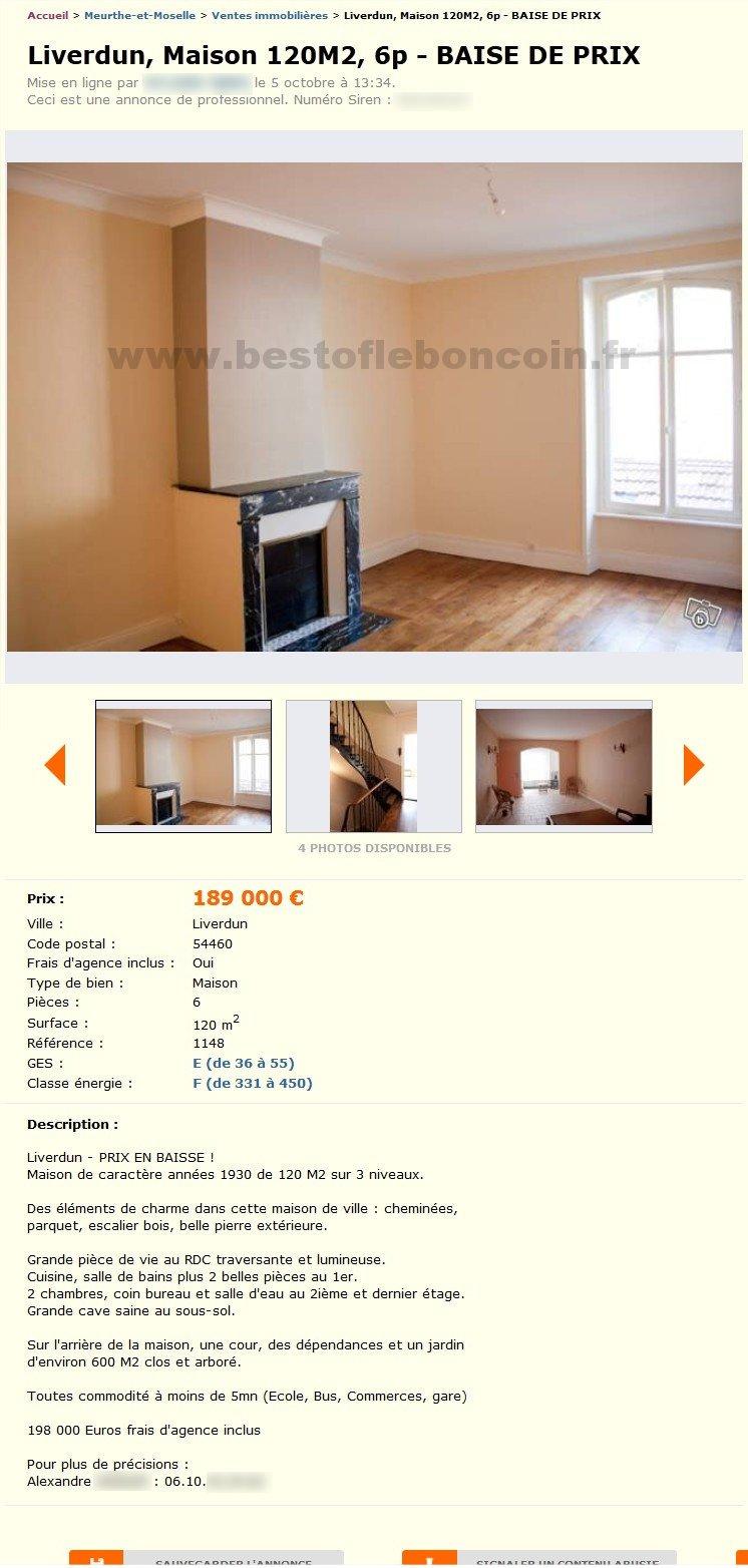 Maison Baise De Prix Ventes Immobilières Lorraine