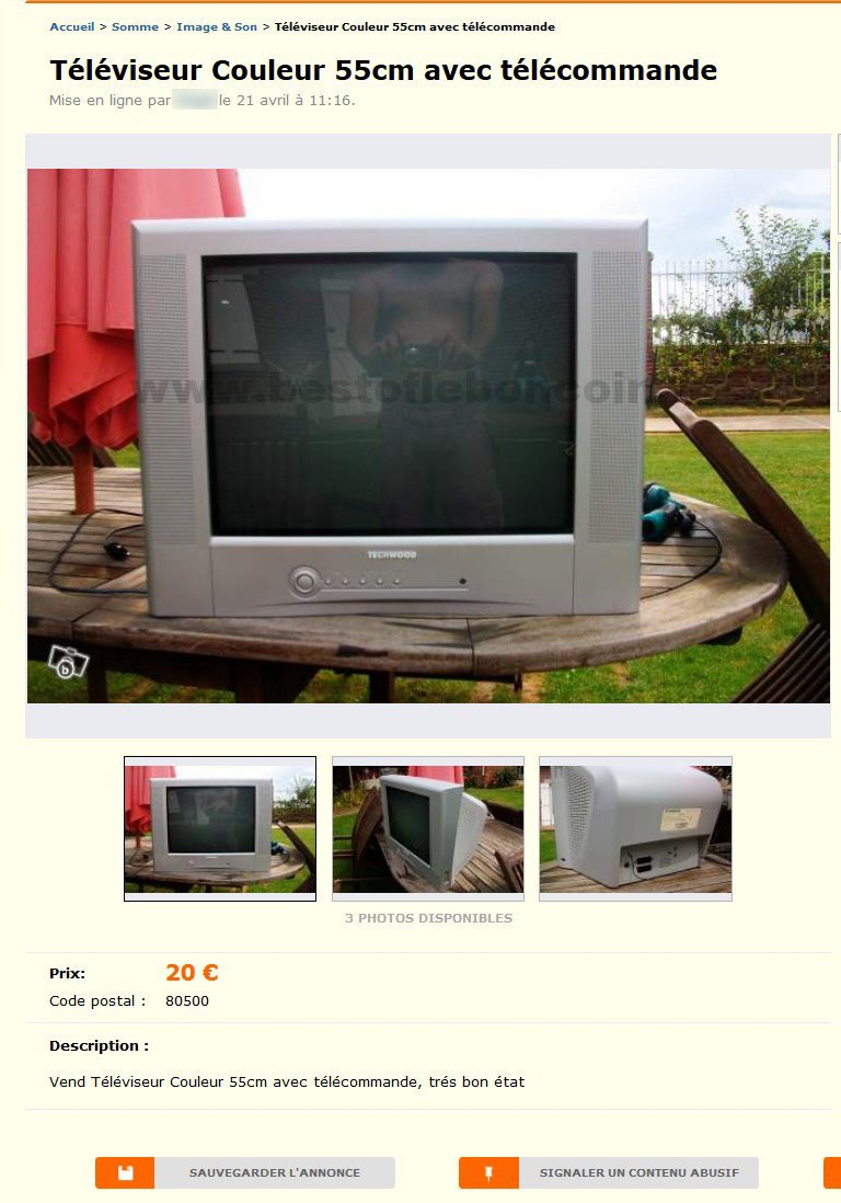 T l viseur couleur 55cm image son picardie best of le bon coin - Le bon coin televiseur ...