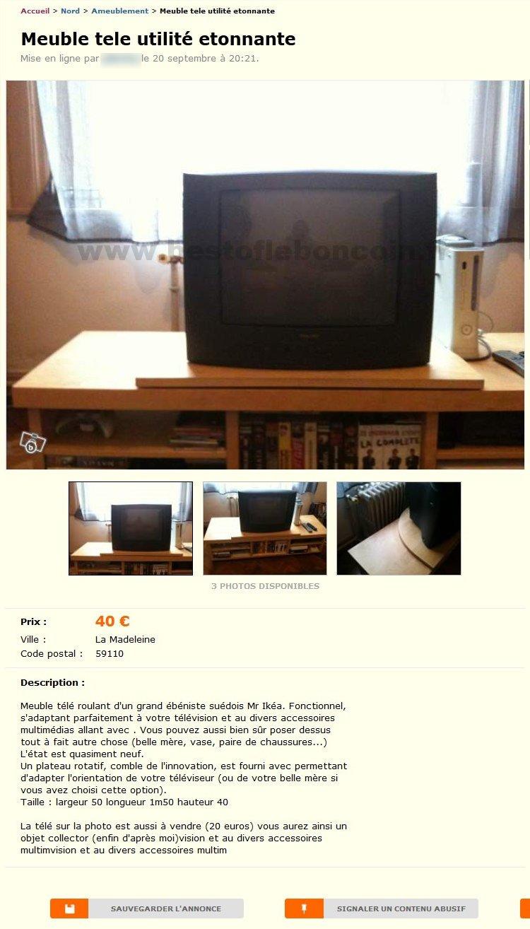 Bon Coin Meuble Tv Ikea Tout Le Choix Darty En Meuble Tv Meuble  # Meuble Tv Vintage Le Bon Coin