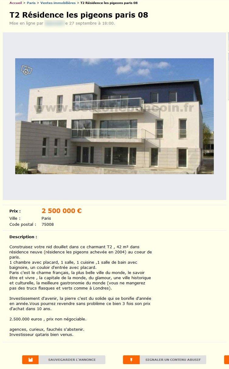 T2 residence les pigeons ventes immobili res le de france best of le b - Leboncoin paris ile de france ...