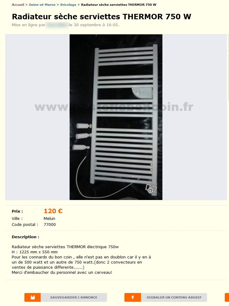 radiateur s che serviettes bricolage haute normandie best of le bon coin. Black Bedroom Furniture Sets. Home Design Ideas
