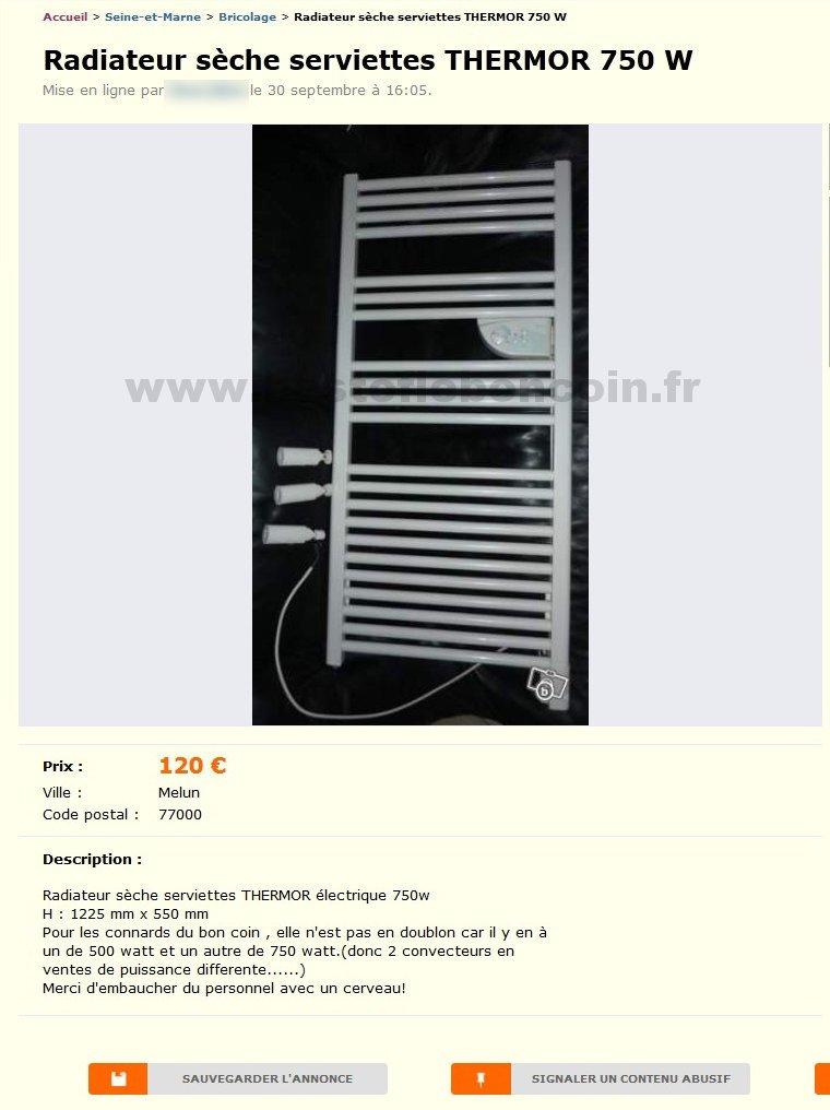 radiateur s che serviettes bricolage haute normandie. Black Bedroom Furniture Sets. Home Design Ideas