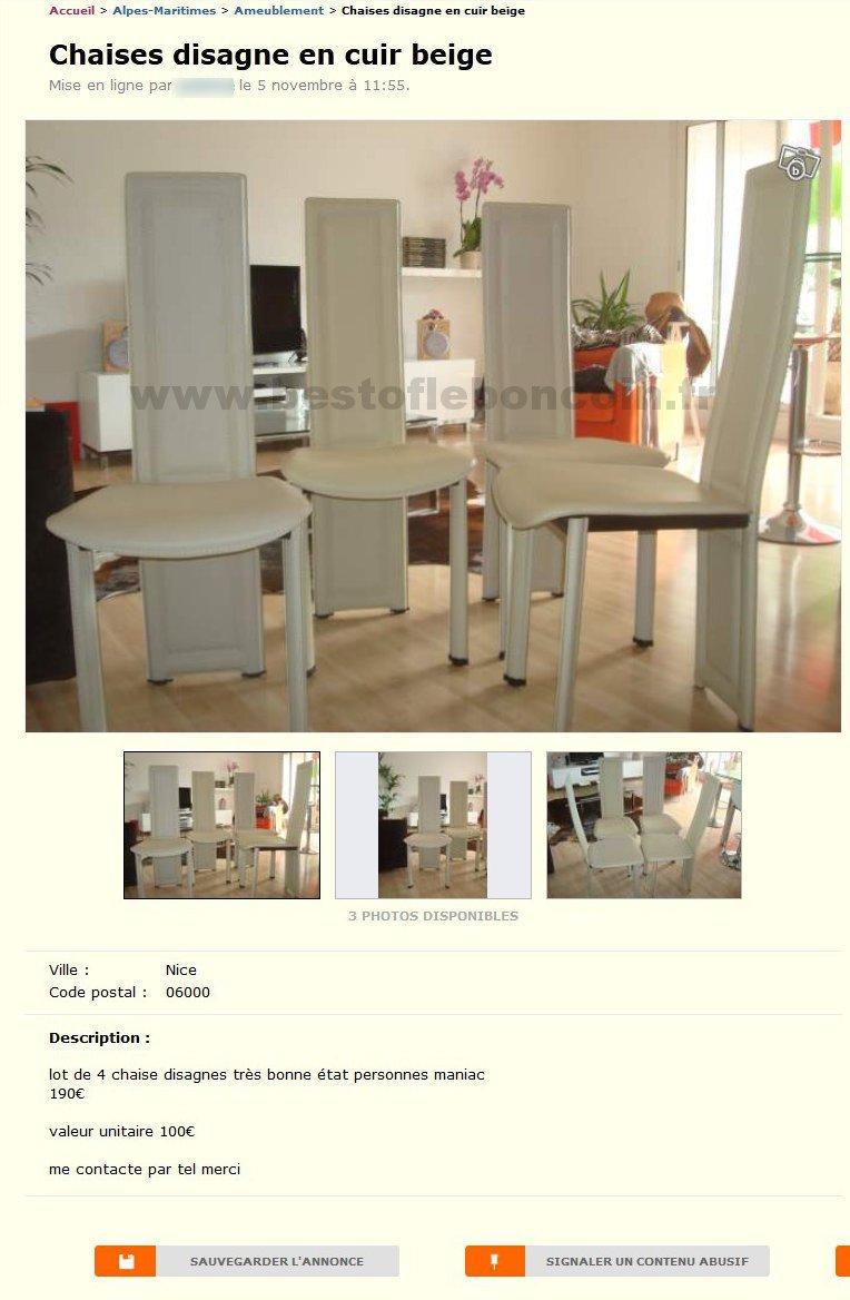 chaises disagne ameublement provence alpes c te d 39 azur best of le bon coin. Black Bedroom Furniture Sets. Home Design Ideas