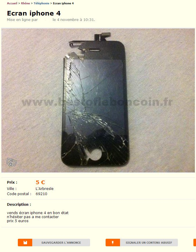 Ecran iPhone 4