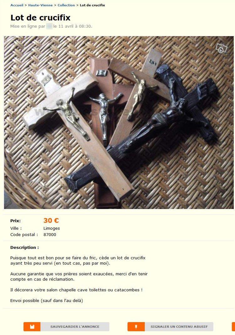 lot de crucifix collection limousin best of le bon coin. Black Bedroom Furniture Sets. Home Design Ideas