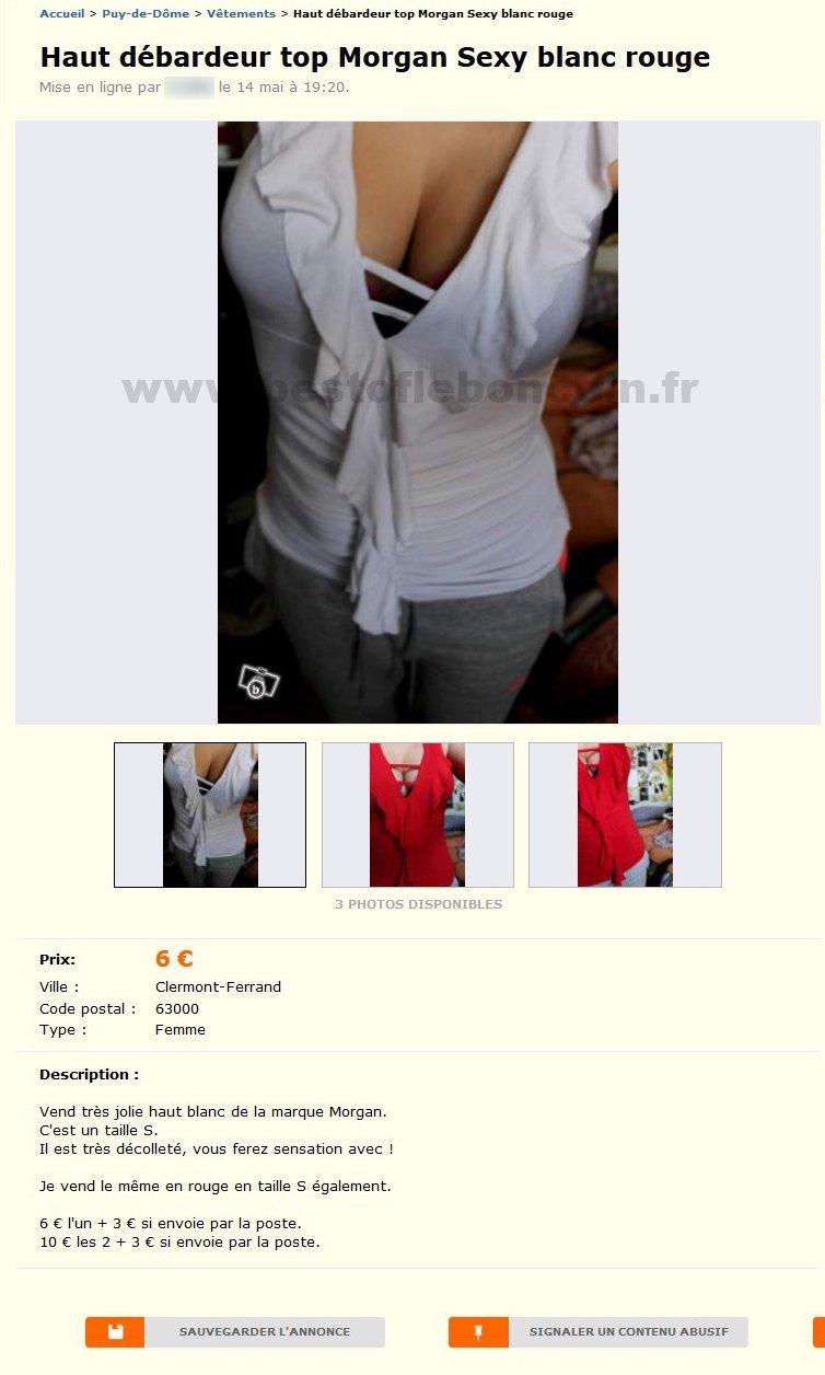 Haut Debardeur Top Morgan Sexy / Vêtements / Auvergne