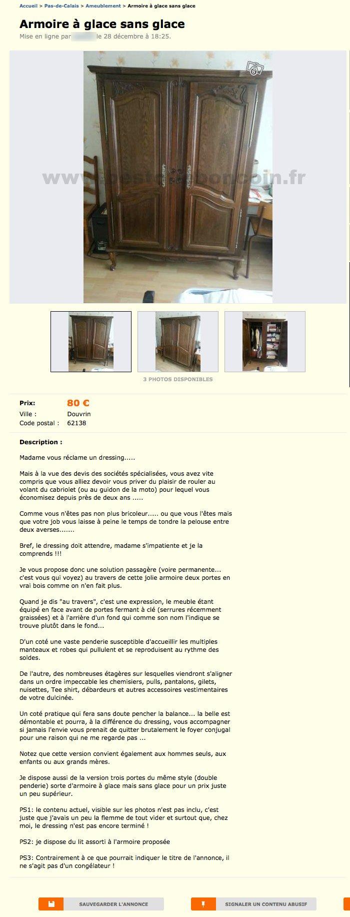 armoire glace sans glace ameublement nord pas de calais best of le bon coin. Black Bedroom Furniture Sets. Home Design Ideas