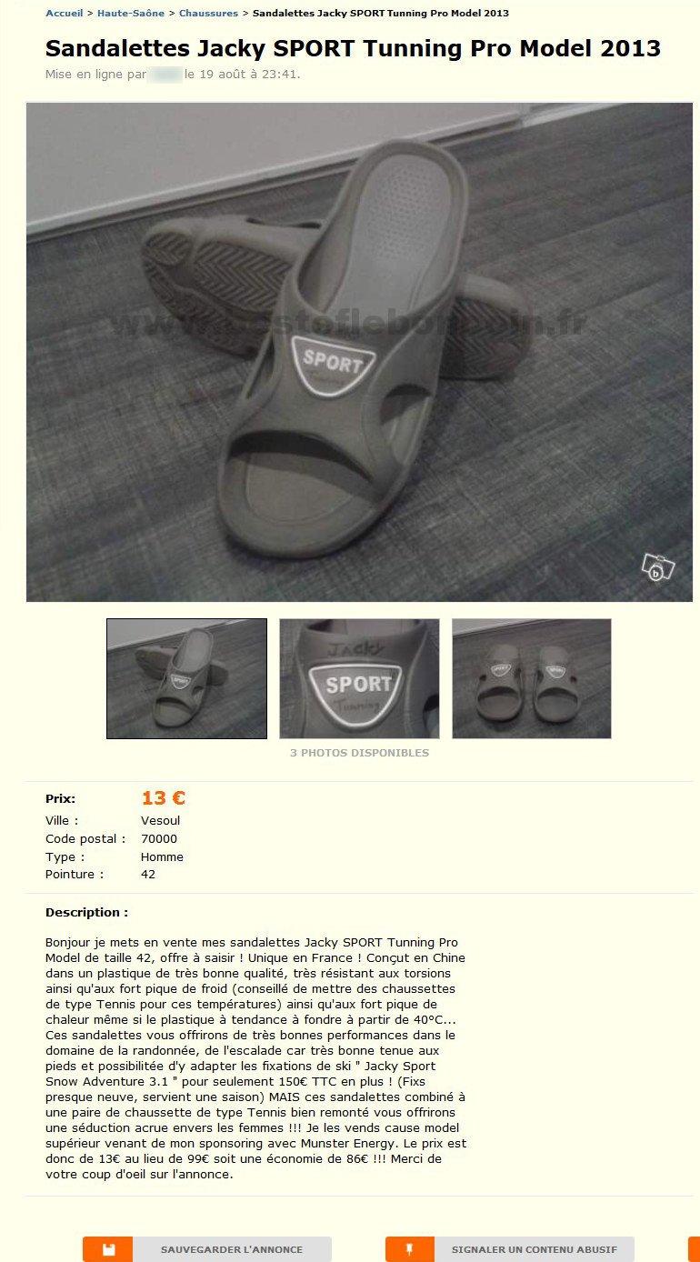 Sandalettes jacky sport chaussures franche comt - Le bon coin ameublement franche comte ...