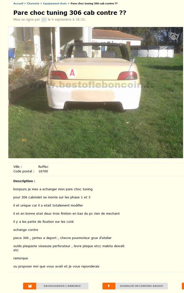 Pare Choc Tuning 306 Cab Equipement Auto Poitou