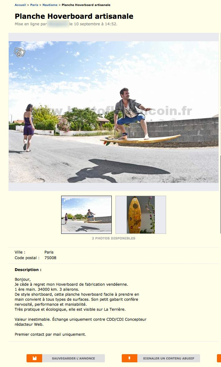 hoverboard le bon coin ile de france