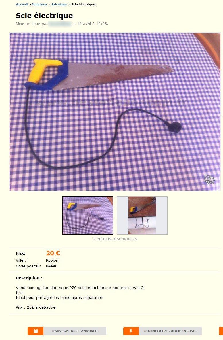 scie electrique bricolage provence alpes c te d 39 azur best of le bon coin. Black Bedroom Furniture Sets. Home Design Ideas