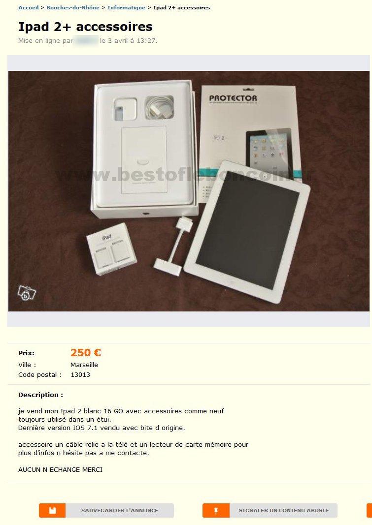 ipad 2 accessoires informatique provence alpes c te d 39 azur best of le bon coin. Black Bedroom Furniture Sets. Home Design Ideas