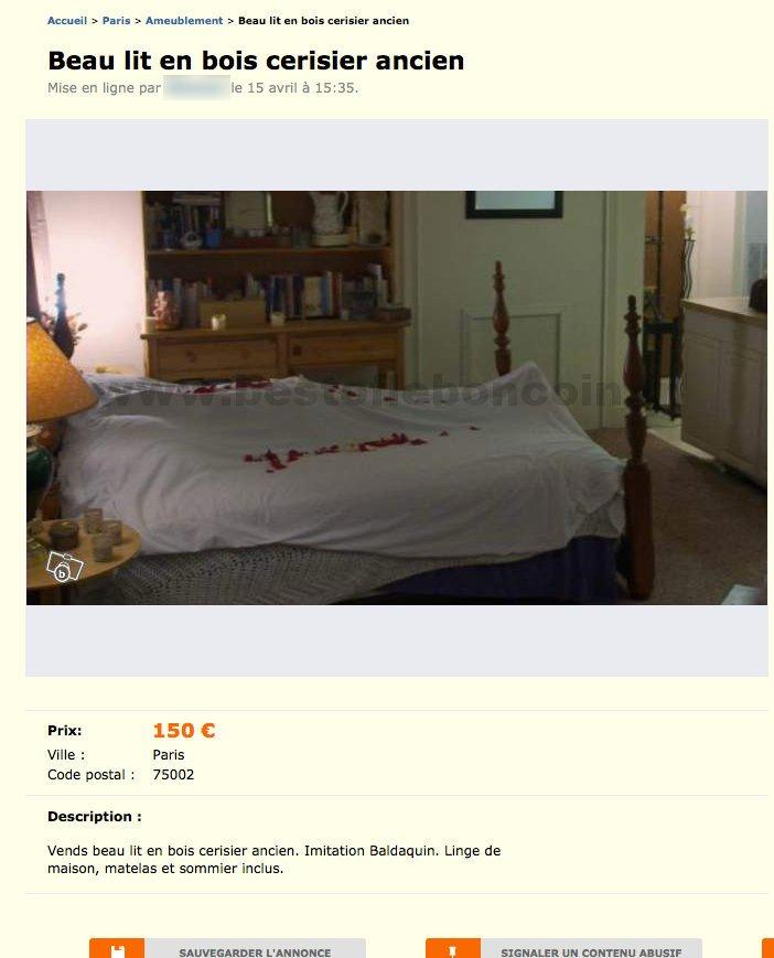 beau lit en bois cerisier ancien ameublement le de france best of le bon coin. Black Bedroom Furniture Sets. Home Design Ideas