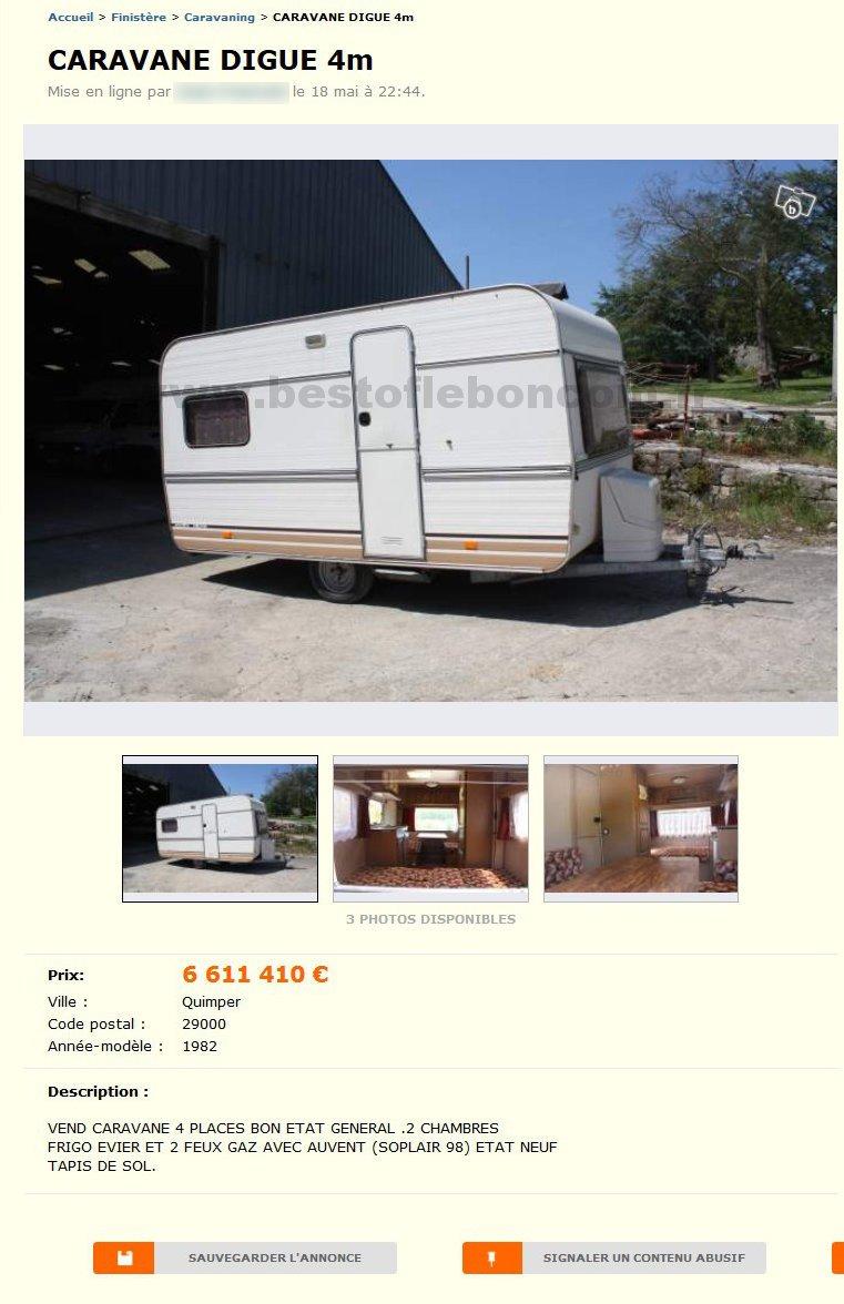 caravane digue 4m caravaning bretagne best of le bon. Black Bedroom Furniture Sets. Home Design Ideas