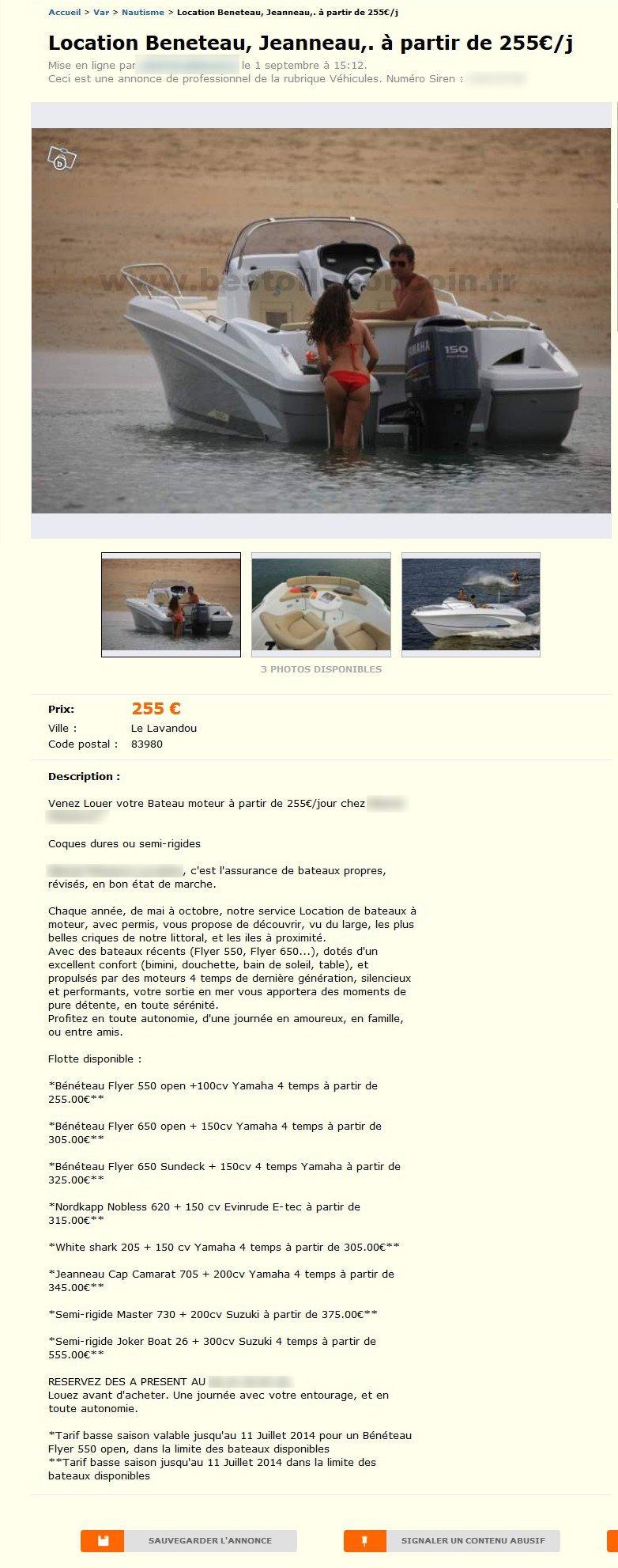 location beneteau jeanneau nautisme provence alpes. Black Bedroom Furniture Sets. Home Design Ideas