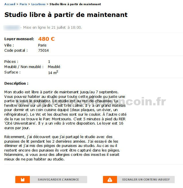 Studio libre partir de maintenant locations le de france best of le - Leboncoin fr immobilier ile de france ...