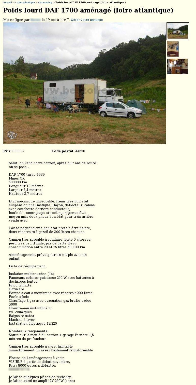 camion am nag caravaning pays de la loire best of. Black Bedroom Furniture Sets. Home Design Ideas