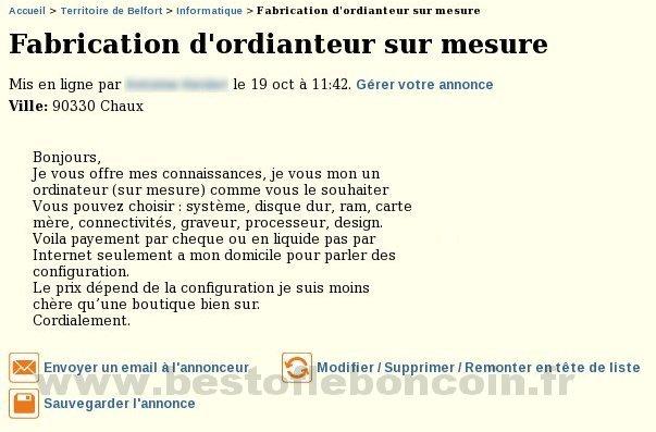 Fabrication d 39 ordianteur informatique franche comt - Le bon coin ameublement franche comte ...