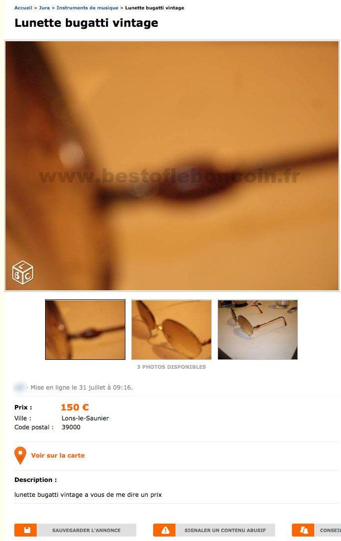 lunette bugatti vintage instruments de musique franche comt best of le bon coin. Black Bedroom Furniture Sets. Home Design Ideas