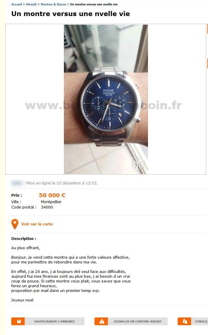 Un montre versus une nvlle vie montres bijoux for Je vend ma voiture a un garage