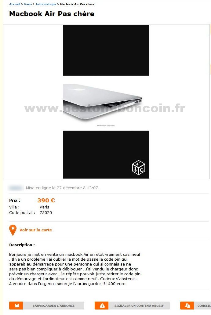 macbook air pas ch re informatique le de france best of le bon coin. Black Bedroom Furniture Sets. Home Design Ideas