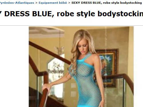 sexy dress blue robe style bodystocking sur best of le bon coin. Black Bedroom Furniture Sets. Home Design Ideas